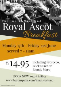 Image for Join us for Royal Ascot Breakfast