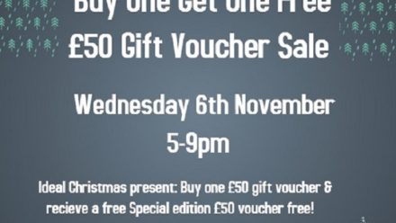 BOGOF Voucher Sale