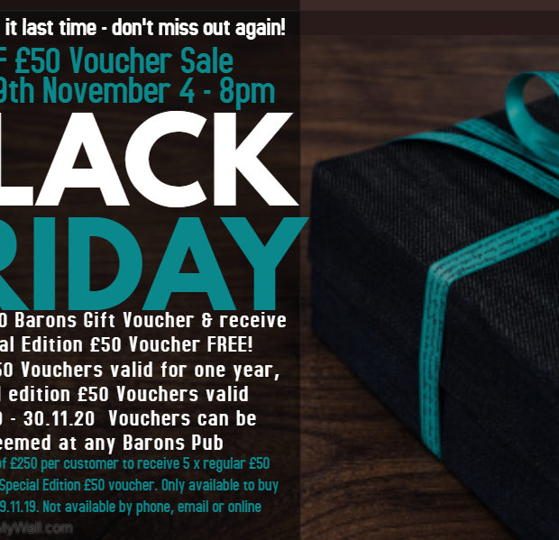 Image for Black Friday BOGOF Voucher Sale!