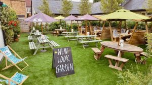 Image for Our lovely pub garden has had a makeover