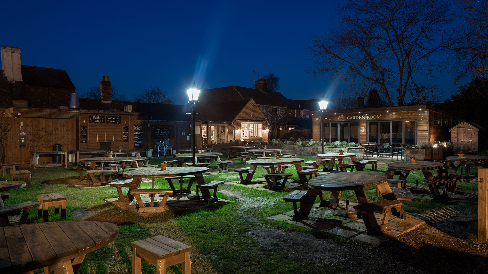 Photo of The Cricketers Pub Garden at Night