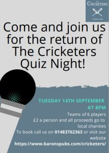 Image for Charity Quiz Night is back!