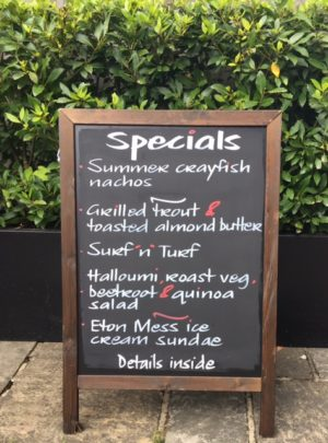 june specials blackboard