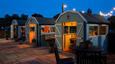Garden Huts at the Rose and Crown