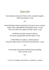 Image for New Year, New Specials Menu!