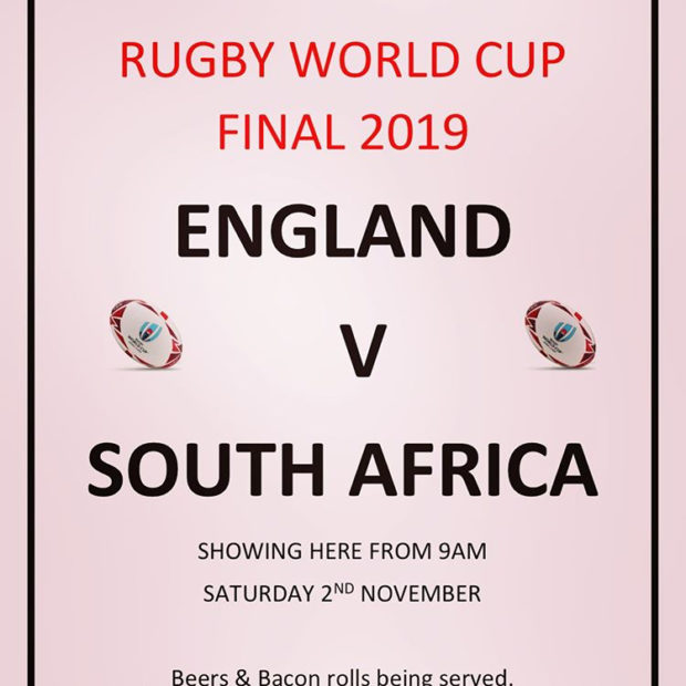 Image for We will be open & showing the Rugby Final!