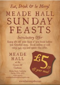 Image for Introducing our scrumptious gastronomic Meade Hall Sunday Feast
