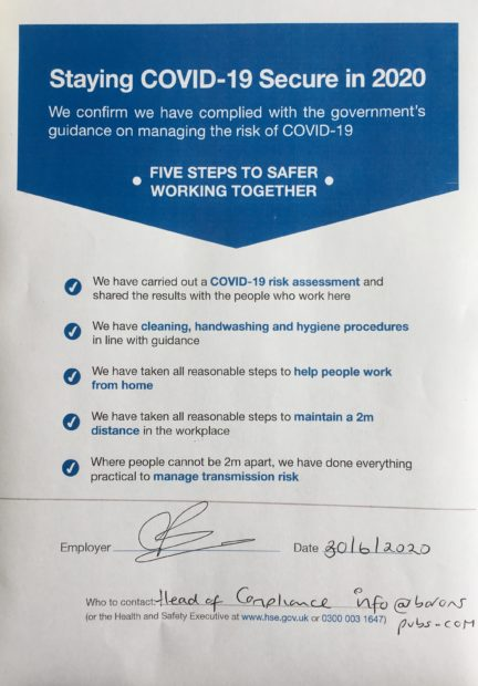 Image for Staying Covid-19 Secure in 2020