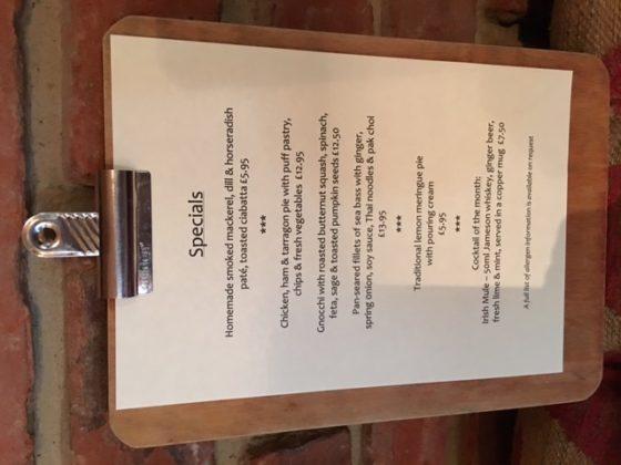 specials menu May 2017