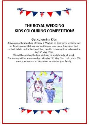 royal wedding kids colouring